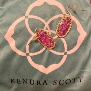 Kendra Scott Dani Pink  Kyocera pearl earrings